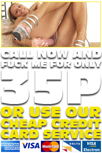 Cheap Credit Card Phone Sex